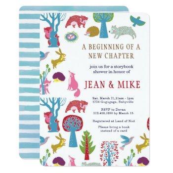 Storybook Woodland Baby Shower Invitation