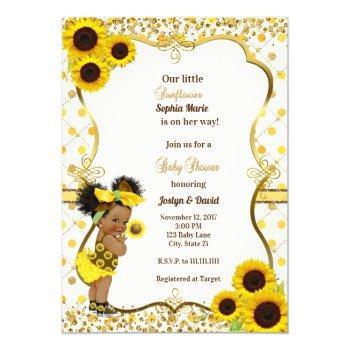 Sunflower Baby Shower Invitation