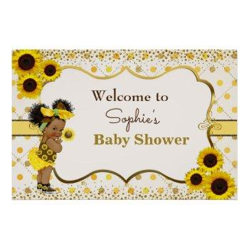 Sunflower Baby Shower Welcome Sign