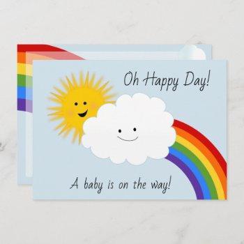 Sunshine And Rainbows Baby Shower Invitation