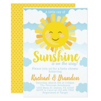 Sunshine Baby Shower Invitation Invite