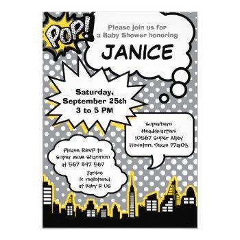 Superhero Baby Shower Party Invitation