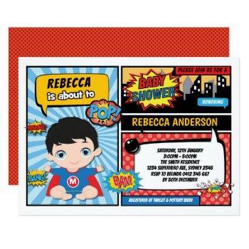 Superhero Baby Shower / Super Hero Boy Invitation