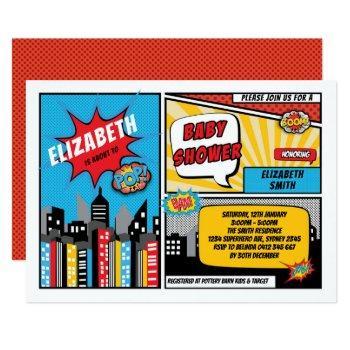 Superhero Baby Shower / Superheroes Comic Book Invitation