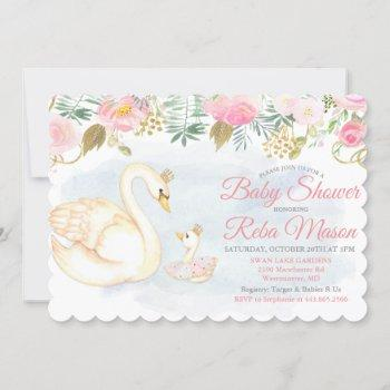 Swan Floral Baby Shower