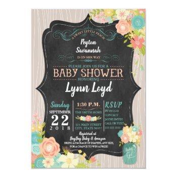 Sweet Little Peach Baby Shower Invitation