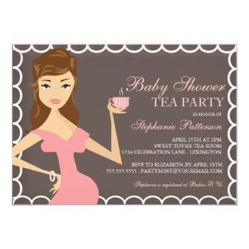Sweet Mommy Baby Shower Tea Party Invitation Pink