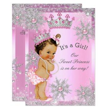 Sweet Princess Baby Shower Wonderland Pink Invitation