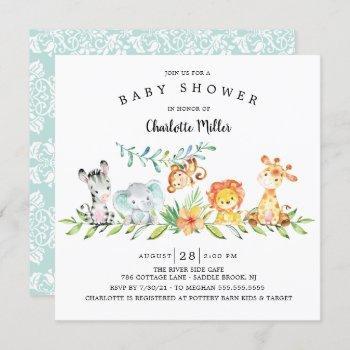 Sweet Safari Animals Gender Neutral Baby Shower In