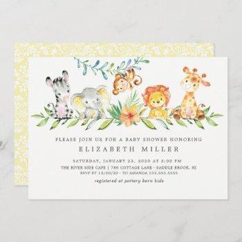 Sweet Safari Animals Neutral Baby Shower