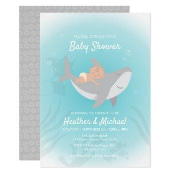 Sweet Shark Baby Shower Invitation