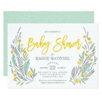 Sweet Sprigs Gender Neutral Baby Shower Invitation