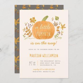 Sweet Watercolor Fall Little Pumpkin Baby Shower