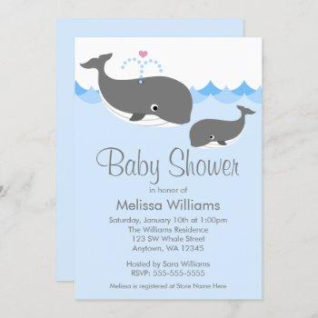 Sweet Whale Baby Shower