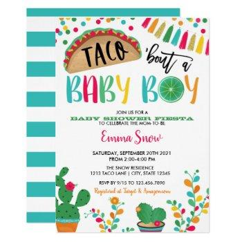 Taco About A Baby Boy Shower Invitation