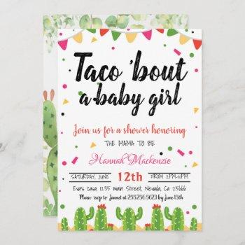Taco Baby Shower Invitation Taco Bout A Baby Girl