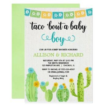 Taco Baby Shower, Mexican Fiesta Boy Couples Invitation