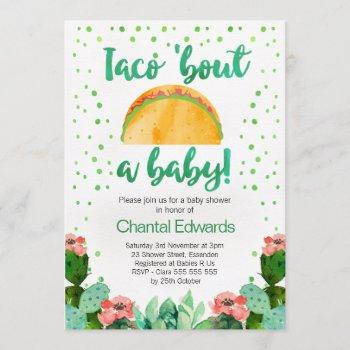 Taco 'bout A Baby Fiesta Baby Shower Invitation
