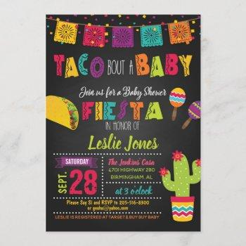 Taco Bout A Baby Fiesta Baby Shower Invitation