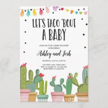 Taco Bout A Baby Fiesta Couples Shower Invitation