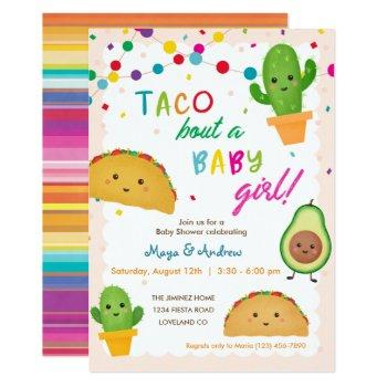 Taco Bout A Baby Girl - Fiesta Theme Baby Shower Invitation