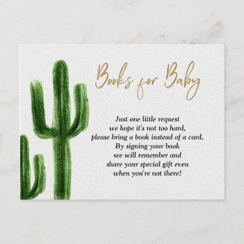 Taco Bout Baby Cactus Baby Shower Books For Baby Invitation Postcard
