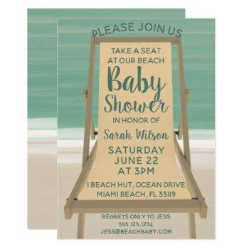 Take A Seat At Our Beach Baby Shower Invitation
