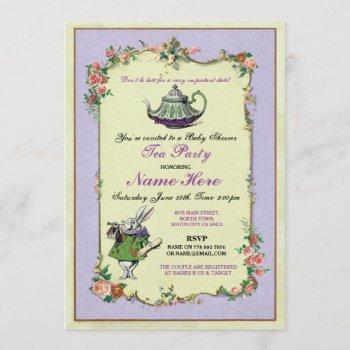 Tea Party Baby Shower Purple Teapot