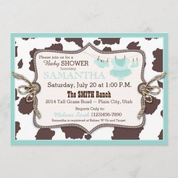 Teal Cowgirl Baby Shower Tutu