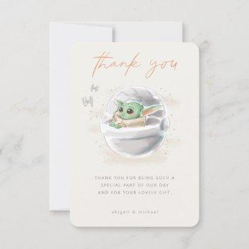 The Child | Watercolor Baby Shower Thank You