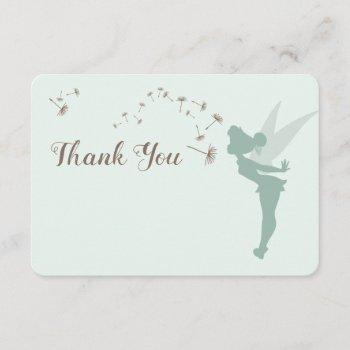 Tinker Bell Baby Shower - Thank You Invitation