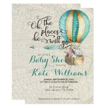 Travel Themed Baby Shower Invitation