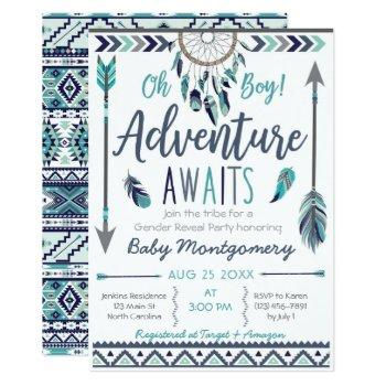 Tribal Dreamcatcher Boy Baby Shower Invitation