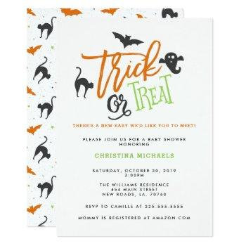 Trick Or Treat Baby Shower Invitations