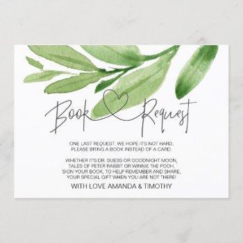 Tropical Eucalyptus Baby Shower Book Request