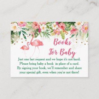 Tropical Flamingo Book Request Cards