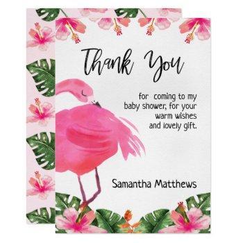Tropical Flamingo Thank You Card