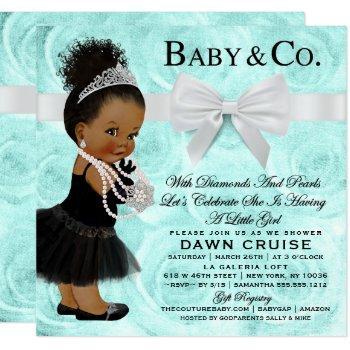 Turquoise Blue Breakfast Baby Shower Invitation