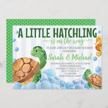 Turtle Baby Shower Invitation Invite