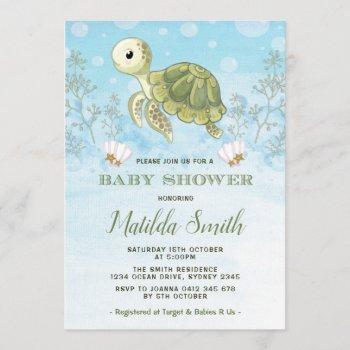 Turtle Baby Shower  Under The Sea Ocean
