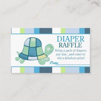 Turtle Bay Baby Shower Diaper Raffle Enclosure Card