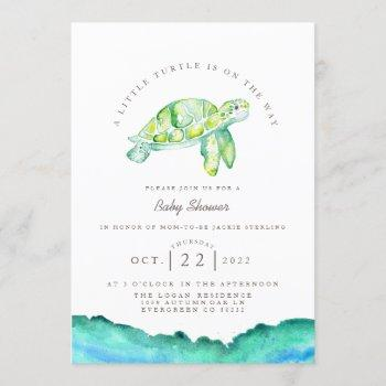 Turtle Watercolor | Ocean Life Baby Shower