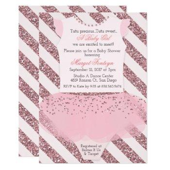 Tutu Ballerina Baby Shower Invitation