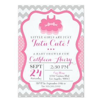 Tutu Cute - Baby Shower Invitation