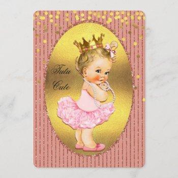 Tutu Cute Princess Faux Gold Foil Confetti Glitter