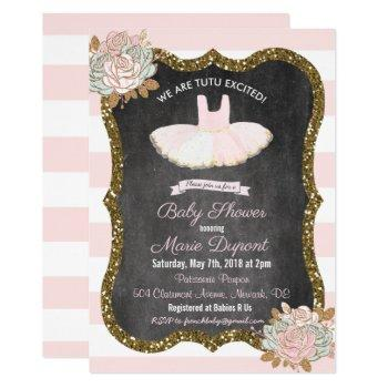 Tutu Excited Tutu Baby Shower Invitation
