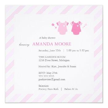 Twin Girl Baby Shower Invitation