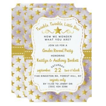 Twink, Twinkle Little Star Gender Reveal Party Invitation