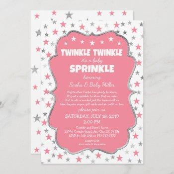 Twinkle Baby Sprinkle Girl Shower Invitations