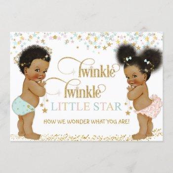 Twinkle Little Star Ethnic Baby Gender Neutral Invitation
